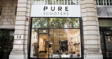 ELECTRIC SCOOTER RETAILER PURE SCOOTERS OPENS FIRST UK STORE IN LONDON